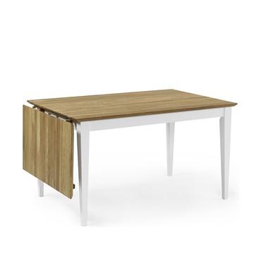 Bild på Ekliden matbord 120cm + klaff vit/ek