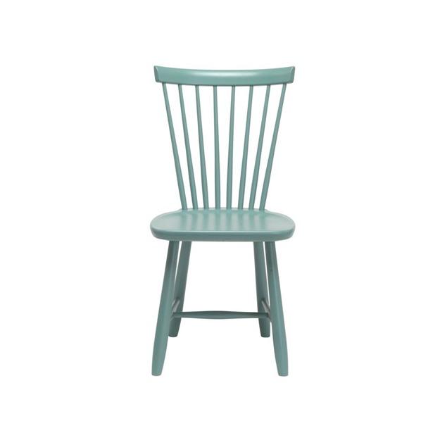 Bild på Lilla Åland stol björk lavar blågrön