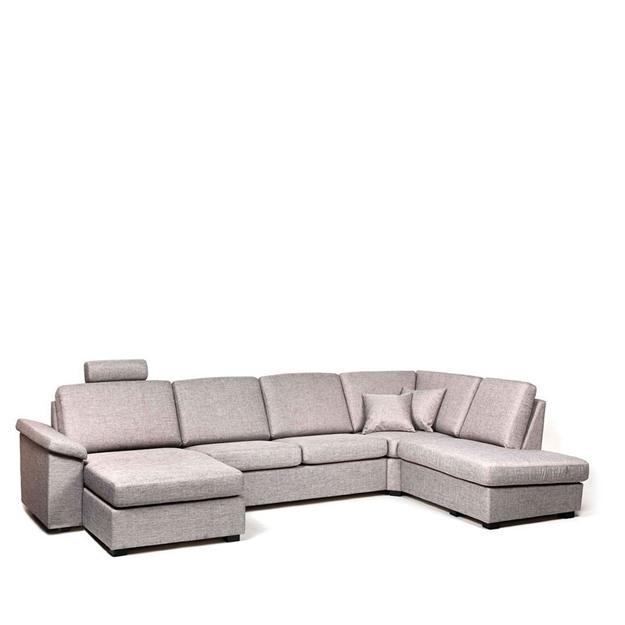 Bild på Choice U-soffa med divan och öppet avslut höger
