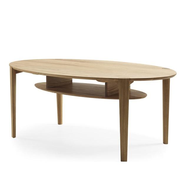 Bild på Spigo soffbord ovalt med hylla 115x70