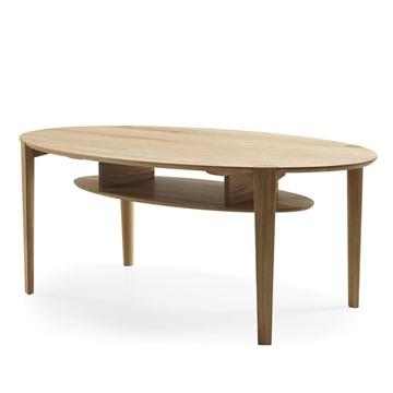 Bild på Spigo soffbord ovalt med hylla 140x80