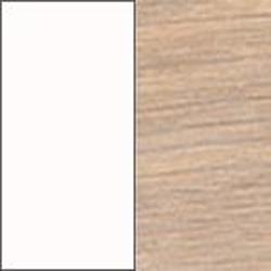 Ekfanér vitoljad med vit lamninat skiva [-3 720 kr]