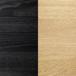 Massv ek svartlack skiva/Oljade ekben [+1 580 kr]