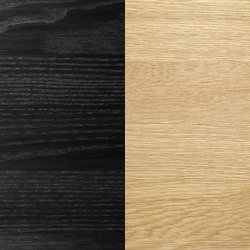 Massiv ek svartlack skiva/Oljade ekben [+ 1 545 kr]