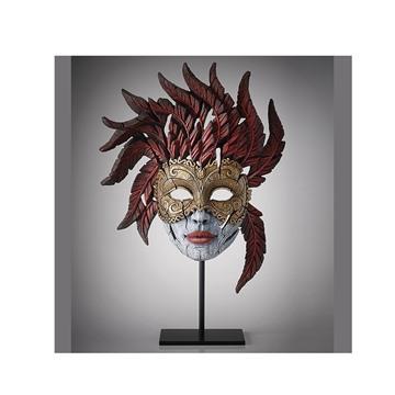 Bild på Carnival Mask röd/guld/grå