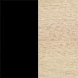 Svart nano-laminat med vitoljad ek