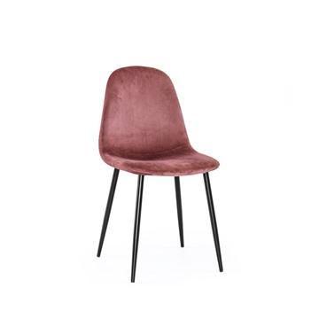 Bild på Thea stol rosa sammet