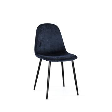 Bild på Thea stol mörkblå sammet