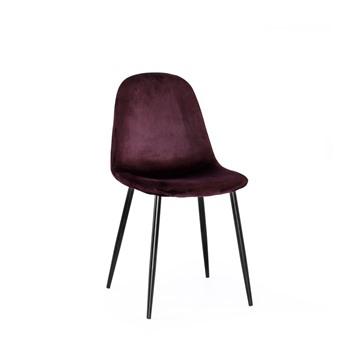 Bild på Thea stol vinrött sammet