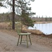 Bild på Lilla Åland stol björk olivgrön