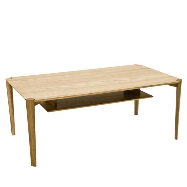 Bild på Spigo soffbord rektangulärt med hylla 140x80