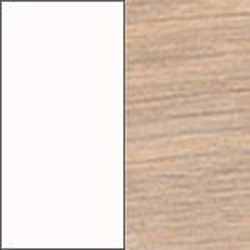 Ekfanér vitoljad med vit lamninat skiva [+ 3 800 kr]