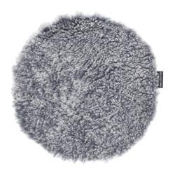 Curly fårskinnsdyna Ø34cm Charcoal Silvergrå