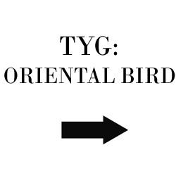 Tyg Oriental Bird